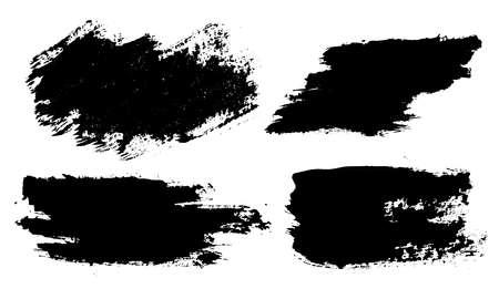 Brush strokes. Vector paintbrushes set. Grunge design elements Vector Illustration