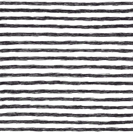 Scribble pattern. Seamless striped background. Black and white Vettoriali