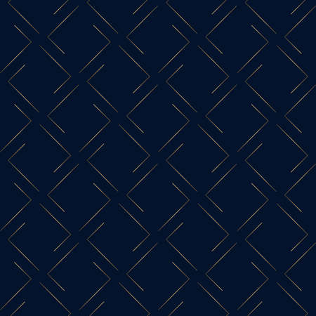 Geometric pattern. Gold on dark blue background Illusztráció