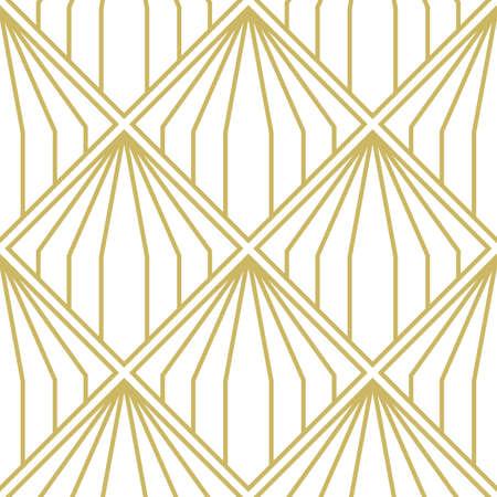 Art Deco Pattern. Seamless geometric vintage decoration. Minimal lines desig