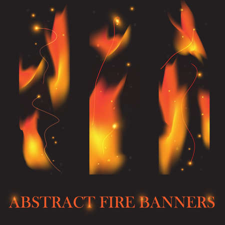 Fire banners background Stock Vector - 17066212