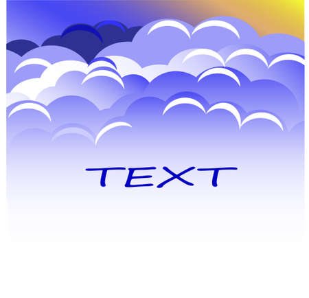 Blue clouds blank text Stock Vector - 17162550