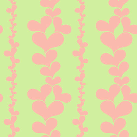 Hearts seamless background Stock Vector - 17335985