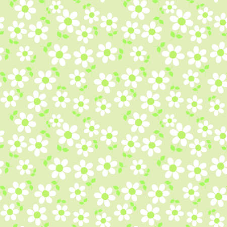 daisy wheel: Seamless floral pattern
