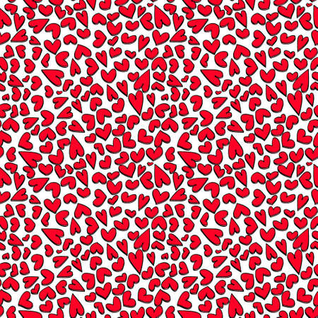 Seamless pattern with hearts Stock Vector - 17510513