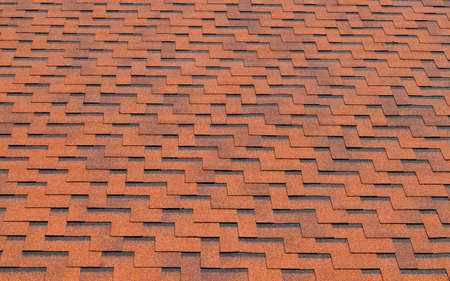 rooftiles: Background of red roof-tiles with zigzag effect Stock Photo