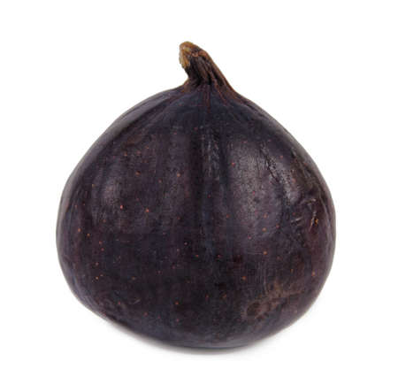 purple fig: Delicious whole ripe fresh purple fig for a succulent healthy dessert or snack on a white isoleted Stock Photo