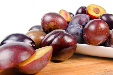 Full frame image of a large group of fresh plums photo