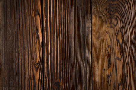 knotty: Close up Empty Textured Brown Wooden Wall. Emphasizing Abstract Prints and Copy Space. Stock Photo