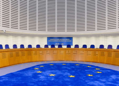 France, Strasbourg - 29 October 2015:The European Court of Human Rights in Strasbourg, France, assembly hall