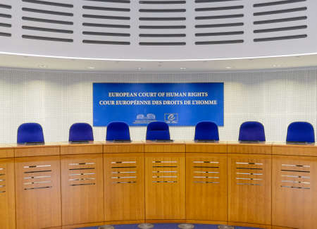 assembly hall: France, Strasbourg - 29 October 2015:The European Court of Human Rights in Strasbourg, France, assembly hall