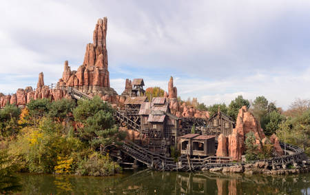 frontier: France, Paris Frontier lands attraction Big Thunder Mountain at Disneyland Paris