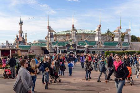 lightyear: France , Paris- 31 October 2015 : Discoveryland attraction in Disneyland Paris Editorial
