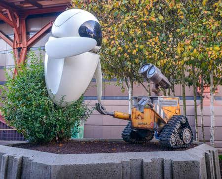cinta pelicula: WALL-E y Eva Disneyland París