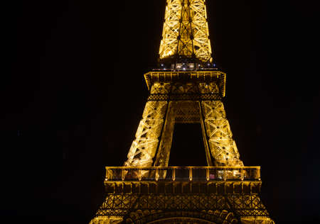 flashing light: Eiffel tower by night, flashing light performance show in Paris.