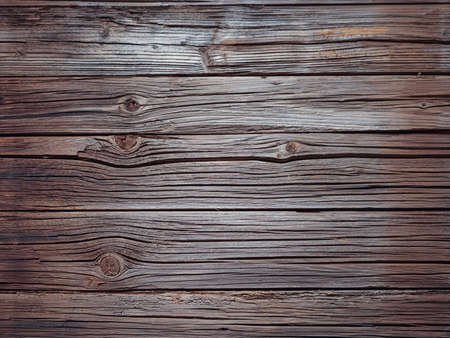 treated board: Full frame of old splintered brown wood background with copy space