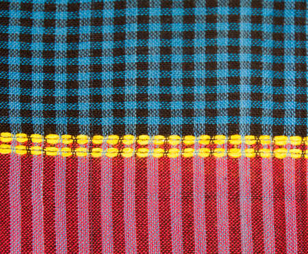 batik: texture of plaid fabric for background