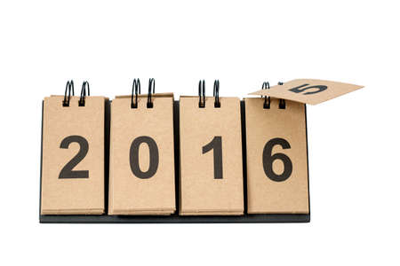 new path: New Year 2016 is coming concept. Happy New Year 2016 replace 2015 concept isolated on white background. This picture have clipping path for easy to use.
