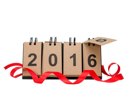 replace: New Year 2016 is coming concept. Happy New Year 2016 replace 2015 concept isolated on white background with copy space for your text. This picture have clipping path for easy to use.