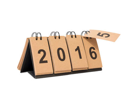 replace: New Year 2016 is coming concept. Happy New Year 2016 replace 2015 concept isolated on white background. This picture have clipping path for easy to use.