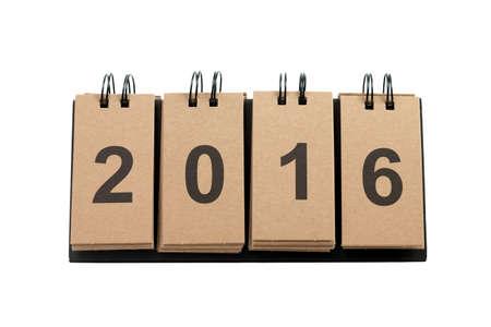 New Year 2016 isolated on white background.