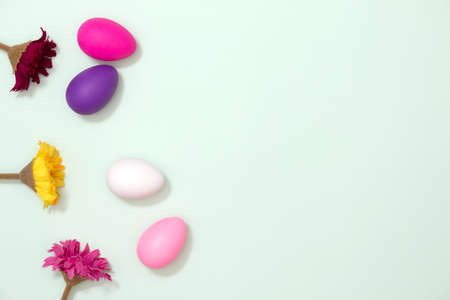 Colorful Easter egg decoration. Spring season concept. Happy Easter Day.
