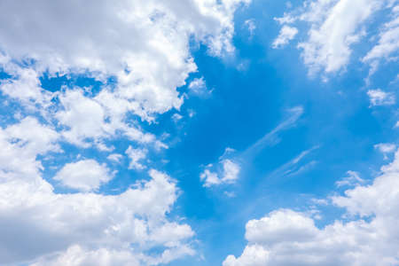 Background of blue sky and white cloud 版權商用圖片