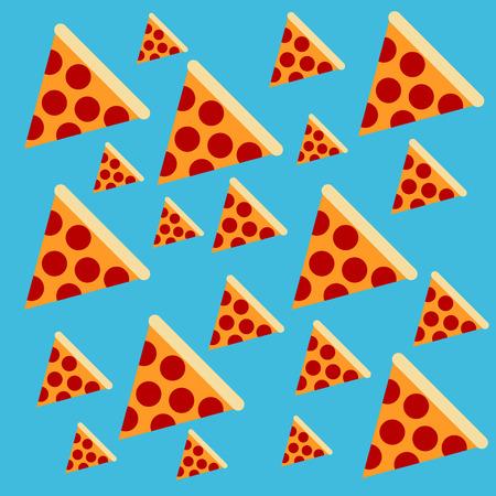 decorative pattern of pizzas