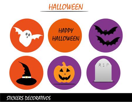 halloween calendar labels