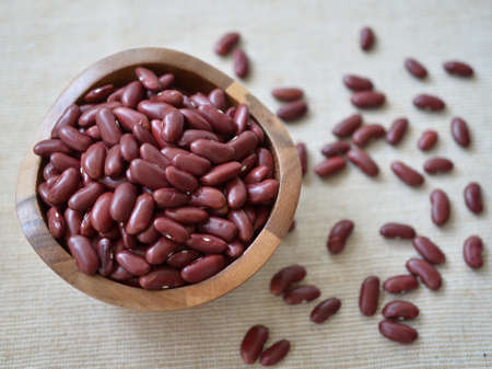 rajma: Red beans in bowl.