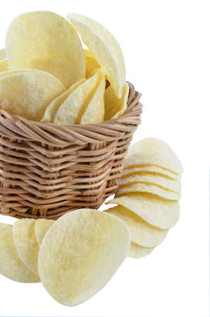 titbits: Potatoes in the basket.