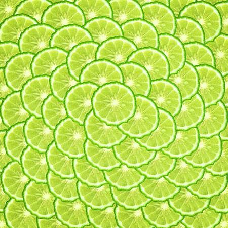 Kaffir lime slice background