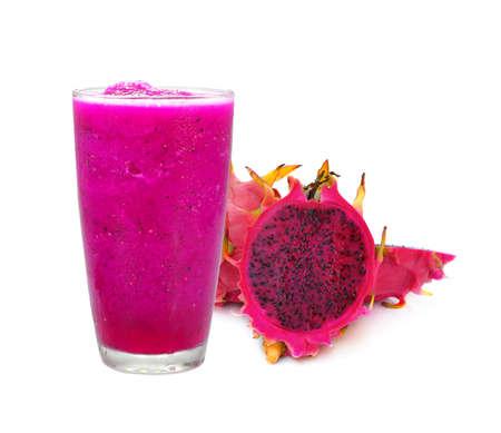Red flesh dragon fruit smoothie