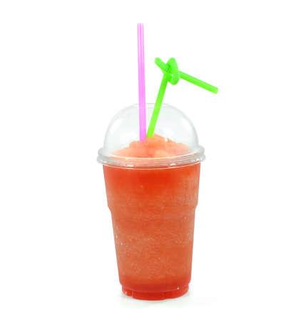 Smoothie Wassermelone isoliert auf wei�em Hintergrund Lizenzfreie Bilder