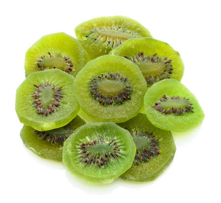 Dried kiwi isolated on white background Stock Photo