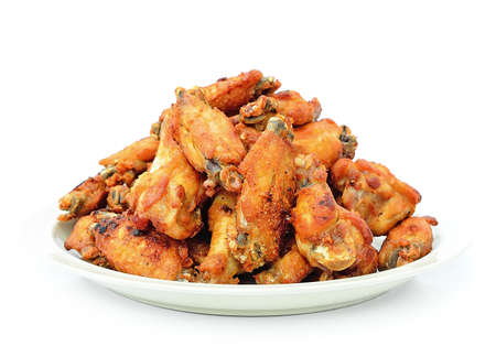 Hot Meat Dishes - Fried Chicken Wings with Curry Sauce photo