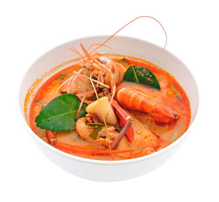 Tom Yum Goong - Thai hot and spicy soup seafood with shrimp - Thai Cuisine photo