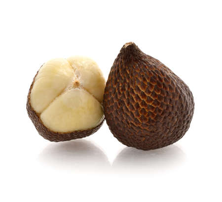Salacca or zalacca tropical fruit on white background