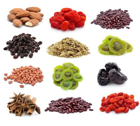 dry food on a white background photo
