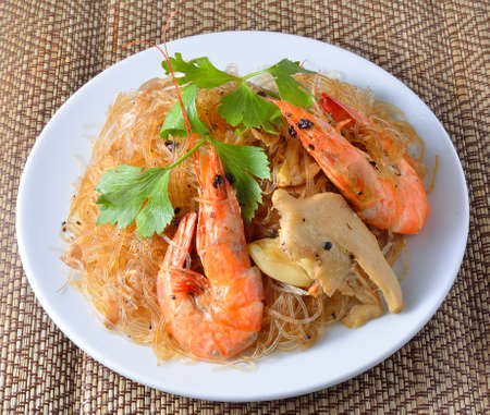 Shrimp vermicelli Thai food photo