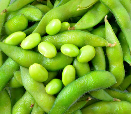 Green soybeans  photo