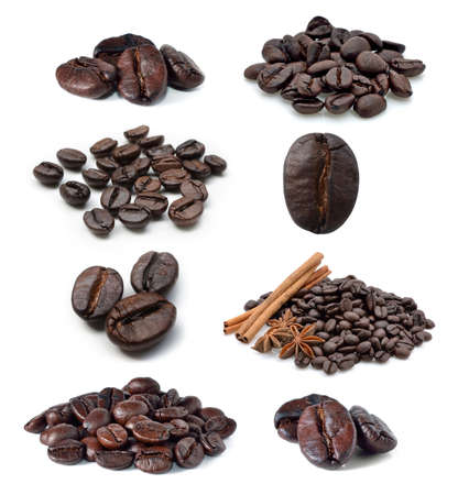 Coffee bean isolated on white background photo