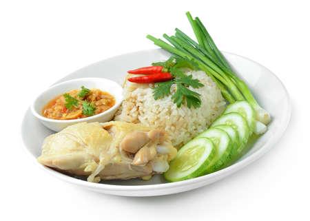 Steam Chicken with Rice (Hainan Chicken)