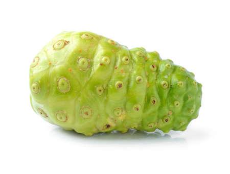 noni fruit: Noni Indian Mulberry fruit on white background