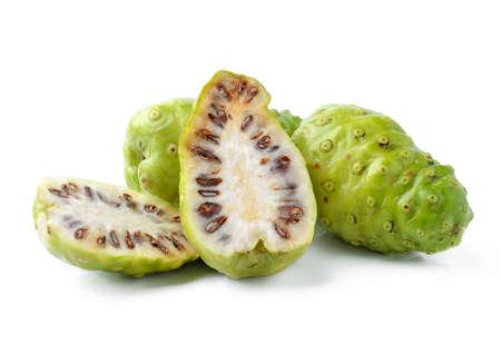 morinda: Exotic Fruit - Noni on white background