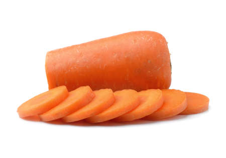 carrot isolated on white photo