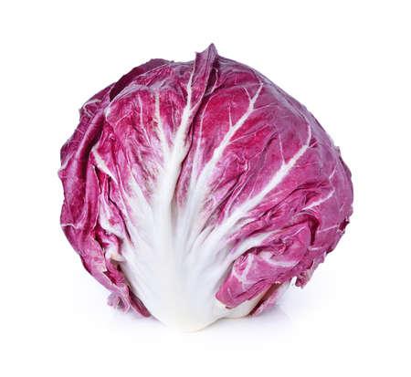Radicchio, red salad isolated on white photo
