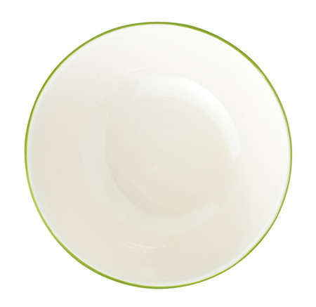 factitious: empty bowl on a white background Stock Photo