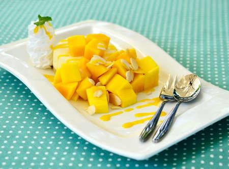 Mango-K�sekuchen