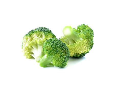 Broccoli Gem�se isoliert auf wei�em Hintergrund